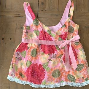 Lilly Pulitzer Val Cami bow silk top
